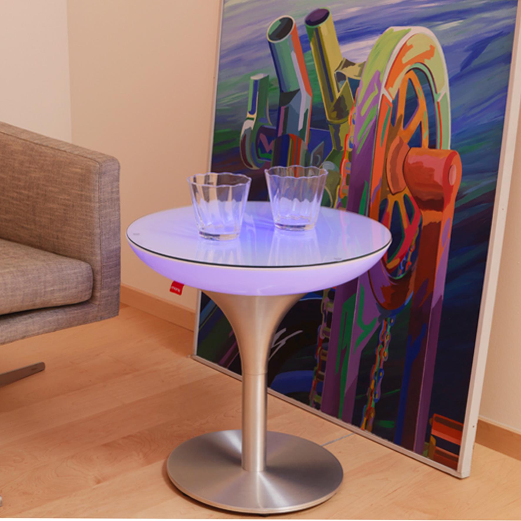 Lounge leucht tisch s led accu for Lounge tisch