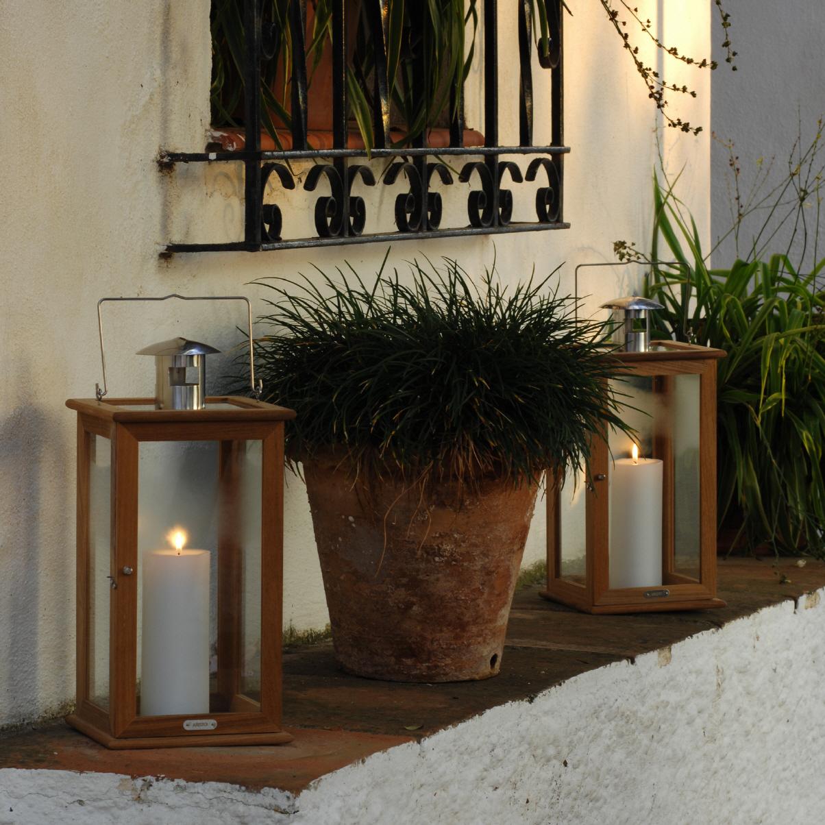 manila teaklaterne von aristo. Black Bedroom Furniture Sets. Home Design Ideas