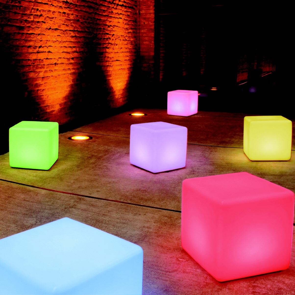 cube leuchtwürfel led granit