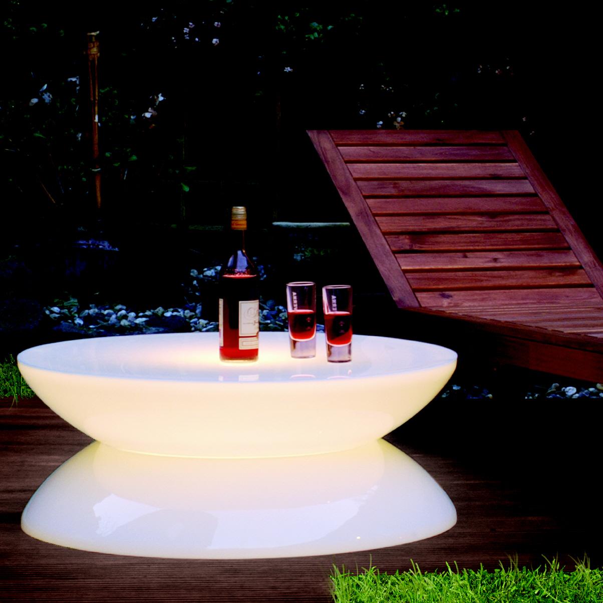 Lounge leucht tisch outdoor for Lounge tisch